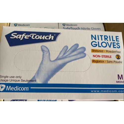 Medicom Safe Touch Nitrile Gloves Powder Free Large PK100