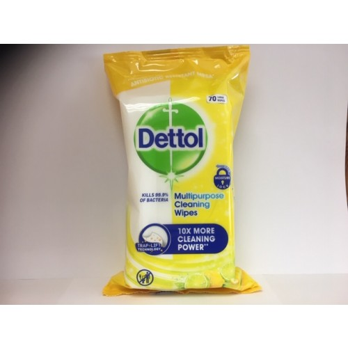 Dettol Antibacterial Detox Wipes  PK70 Large