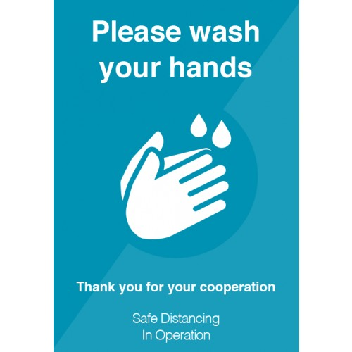 Please Wash Your Hands Strut Card Signage A4