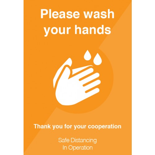 Please Wash Your Hands Strut Card Signage A3
