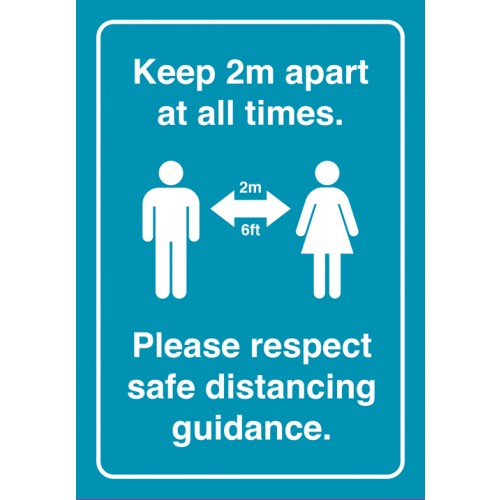 Keep 2M Apart Strut Card Signage A4