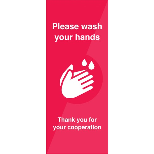 Please Wash Hands Pull-Up Banner 2000mm x 800mm
