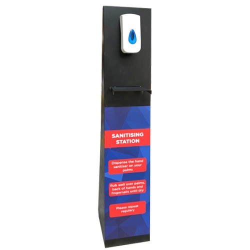 Steel Sanitiser Unit with Automatic Dispenser