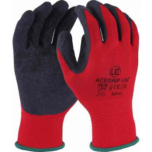 Fine Nylon liner with crinkle latex palm coating gloves, Size 7/S