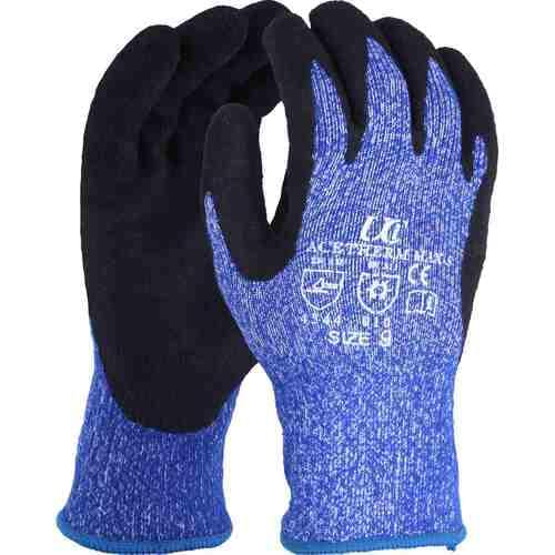 High cut resistant thermal nitrile coated glove with brushed acrylic liner, Size 9/L