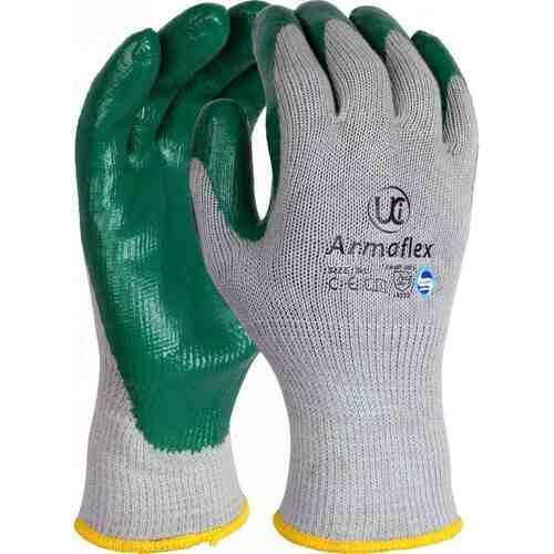 Premium Nitrile Palm Coated Glove, Green, Size 07