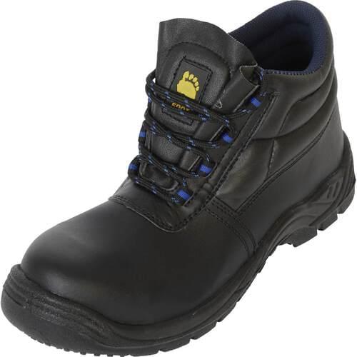 Black Non-metallic black chukka boot, with toe cap, Size 13