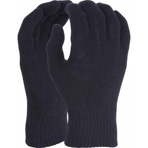 Thermal black acrylic/spandex glove, One Size