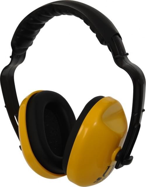 Deluxe yellow ear defenders with adjustable padded headband