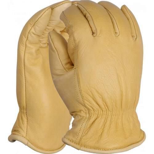 Premium felt lined leather drivers glove, Size 8