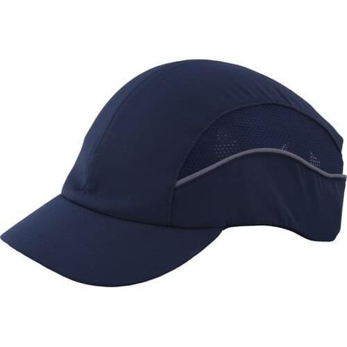 Premium reduced peak bump cap, Navy Blue