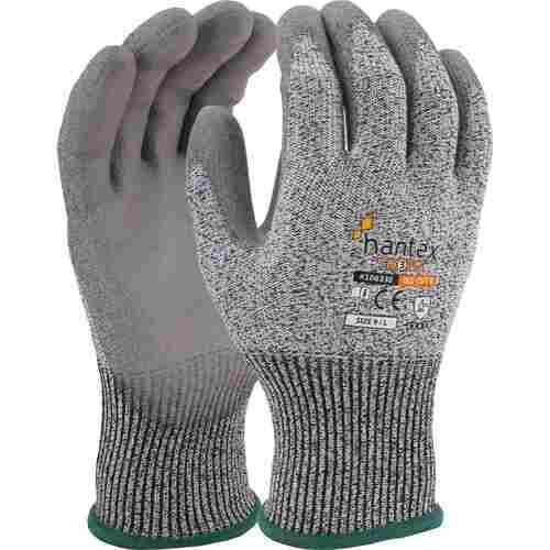 Cut resistant glove with PU palm coating, Grey on Grey, Size 07