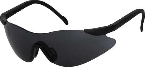 Safety glasses with smoke lens and adjustable arms