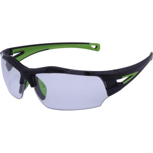 Lightweight sports style safety glasses with clear lens