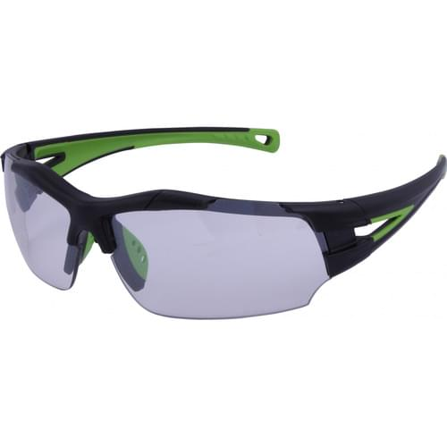Lightweight sports style safety glasses with in-out tint lens
