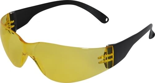 Safety glasses with yellow lens