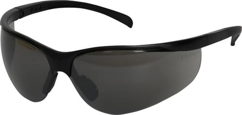 Safety glasses with grey anti-fog lens and adjustable arms