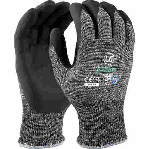 High cut resistant liner with foam nitrile knuckle coating glove, Size 07