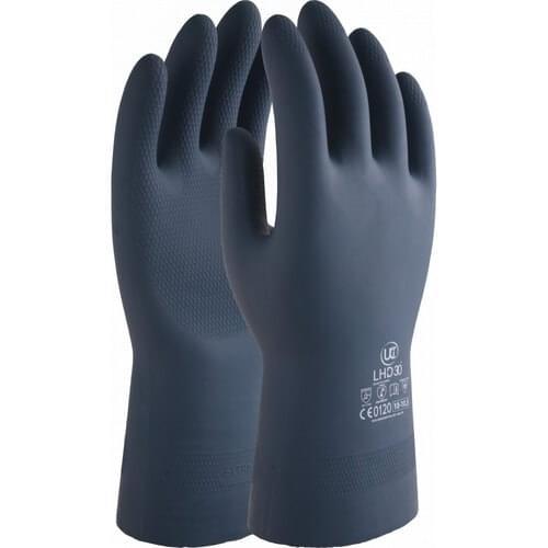 Medium duty black chemical resistant 13 inch gauntlet, Size 11/2XL
