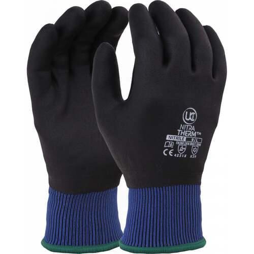 Non-porous nitrile foam thermal glove, Size 07