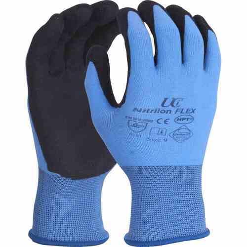HPT palm coating on Nylon/Lycra shell gloves, Size 10