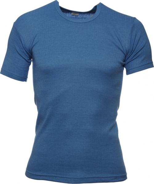 Short sleeved acrylic thermal vest, Light Blue,  Size M