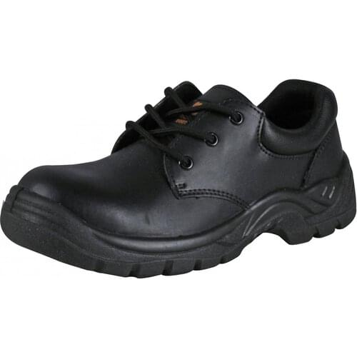 Black Non-metallic shoe with toe cap,  Size 11