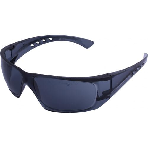 Lightweight safety glasses with smoke lens