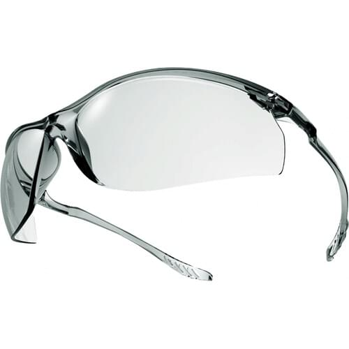 Ultra light weight safety glasses with clear lens