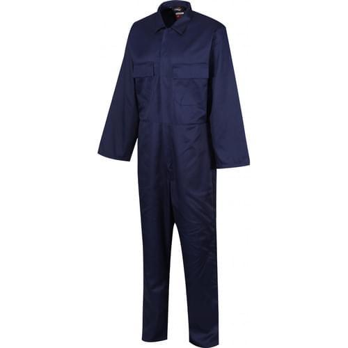Stud Front Polycotton Boilersuit, Navy Blue, Size Small (36/38)