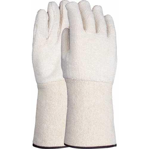 32oz heat resistant terry gauntlet with extended terry cuff, Size L-XL