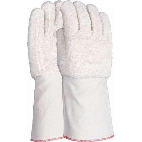 32oz heat resistant terry gauntlet with extended canvas cuff, Size L-XL