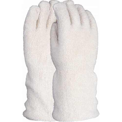 42oz heat resistant double thickness seamless terry gauntlet, Size L-XL