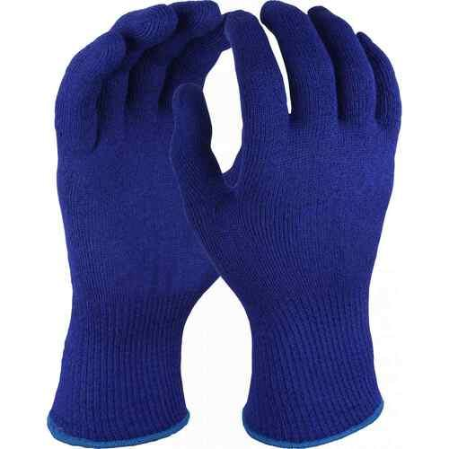 Blue Ambidextrous thermal acrylic glove, Size S