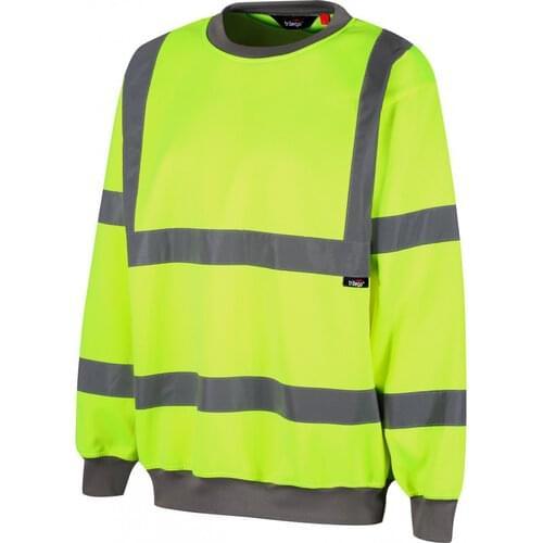 Class 3 hi-vis sweatshirt, Yellow, Size S