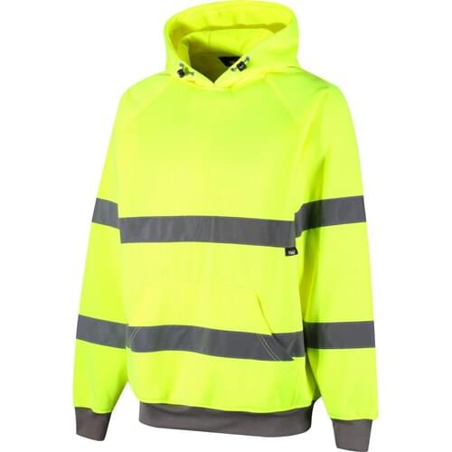 Class 3 hi-vis hooded sweatshirt, Orange, Size S