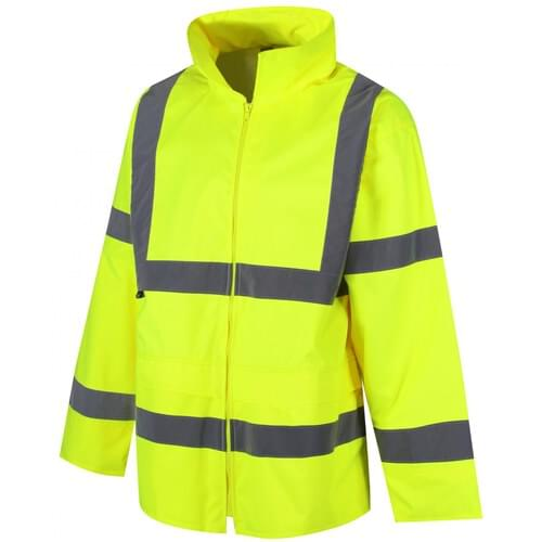 Class 3 waterproof rain Jacket, Yellow, Size S
