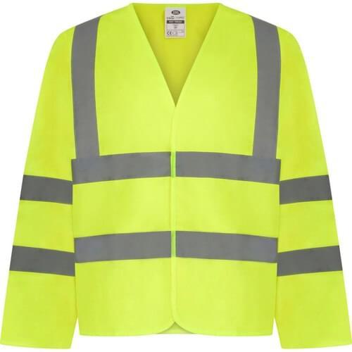 Long sleeved hi-vis waistcoat, Yellow, Size M