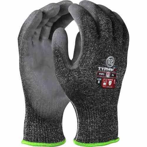Highly cut resistant HPPE liner with PU coating Gloves, Size 07