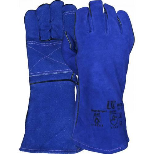 Double Palm Premium Blue Welders Gauntlet, Size XL