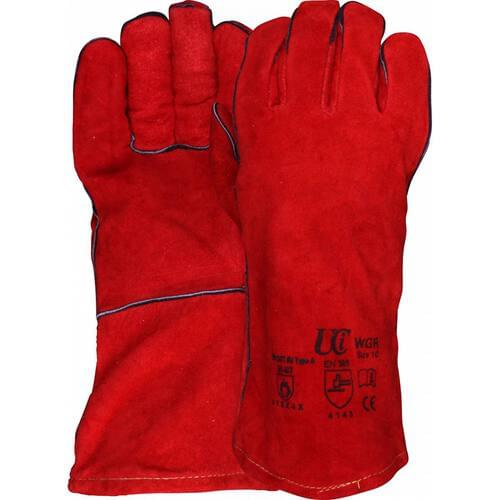 Premium Red Welders Gauntlet, Size XL