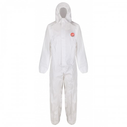 PLUS limited use protective coverall, White, Size XL