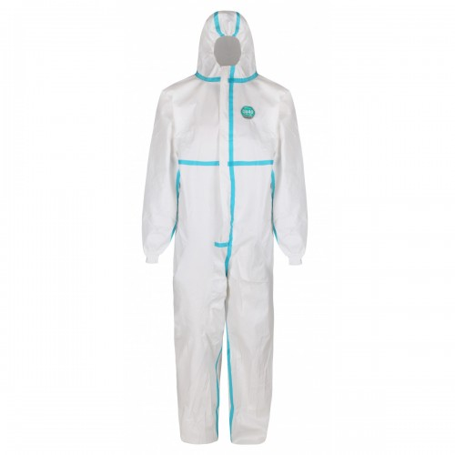 PREMIUM type 4,5 & 6 disposable protective coverall, White, Size L