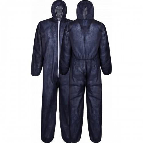 Lightweight disposable polypropylene coverall, Blue, Size XL