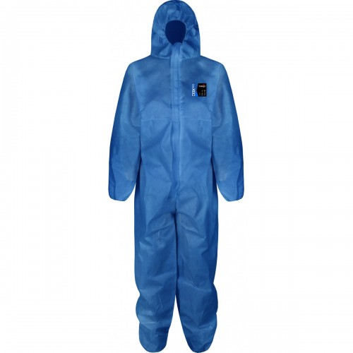 Type 5/6 base coverall, Blue, Size L