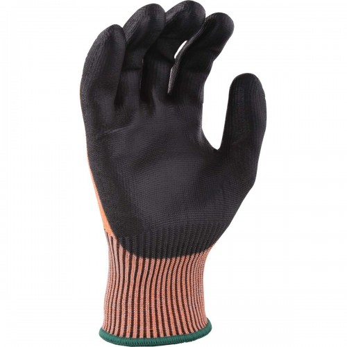 ISO Cut C glove, Black on Orange, Size 10