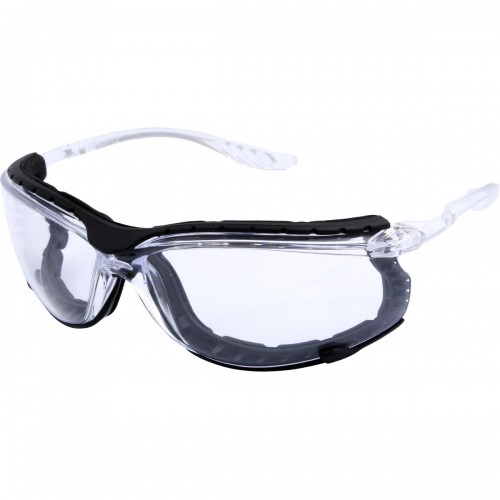 Safety glasses with grey smoke lens