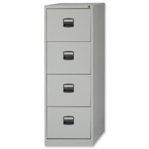 *4 Drawer Steel Lockable Metal Filing Cabinet W470 x D622 x H1321mm Grey*