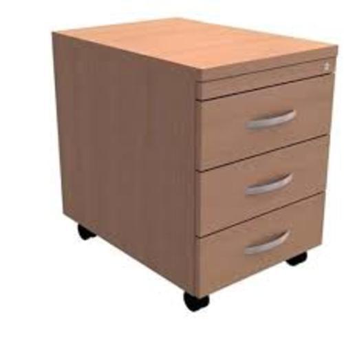 *Under Desk Mobile Filing Pedestal 3-Drawer W400xD600xH602mm Beech*