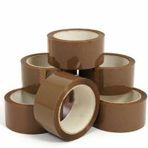 *Business Quality Packaging Tape 50 x 66m Brown [Pack 6]*